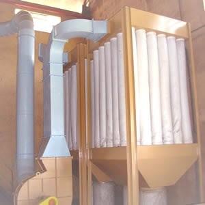 Filtros de Mangas em sistemas de exaustão industrial